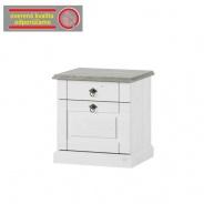 Noční stolek, bílá, LIONA