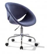 Čalouněná židle na kolečkách Celeste - tmavě modrá