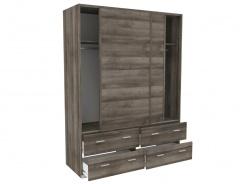 Šatní skříň posuvné dveře Space – ořech