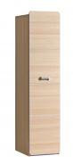 Jednodveřová šatní skříň Melisa - jasan/fialová