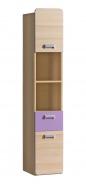 Vysoká kombinovaná skříň Melisa - jasan/fialová