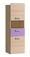 Malá kombinovaná skříňka Melisa - jasan/fialová