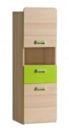 Malá kombinovaná skříňka Melisa - jasan/zelená