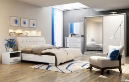 Ložnice PALERMO (postel 160, skříň, komoda, 2 noční stolky)