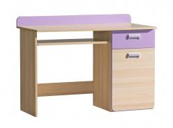Počítačový stůl Melisa - jasan/fialová