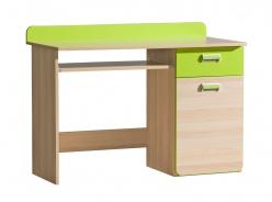 Počítačový stůl Melisa - jasan/zelená