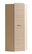 Rohová šatní skříň Melisa - jasan/fialová