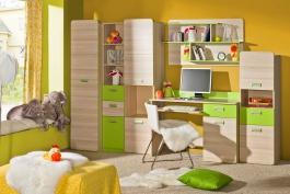 Dětský pokoj Melisa II - jasan/zelená