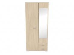 Šatní skříň se zrcadlem Space – dub brooklyn