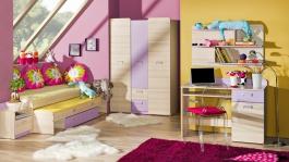 Dětský pokoj Melisa II - jasan/fialová