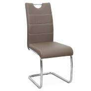 Jídelní židle, ekokůže hnědá / chrom, ABIRA NEW   Tempo Kondela