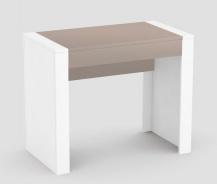 Psací stůl REA Jamie - cappuccino/bílá