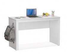 Jednoduchý psací stůl Pure - bílá