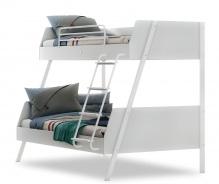 Studentská patrová postel 90x200-120x200cm Pure - bílá
