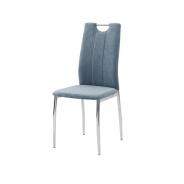 Jídelní židle, azurová látka / chrom, OLIVA NEW