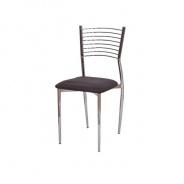 Jídelní židle, tmavohnědá, ZAIRA