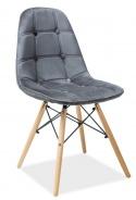 Jídelní židle AXEL III šedá aksamit/buk