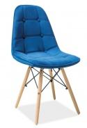 Jídelní židle AXEL III modrá aksamit/buk