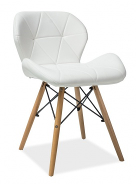 Jídelní židle MATIAS bílá ekokůže