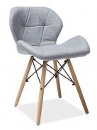 Jídelní židle MATIAS II šedá látka