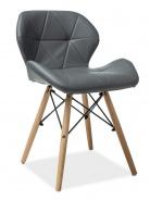Jídelní židle MATIAS šedá ekokůže