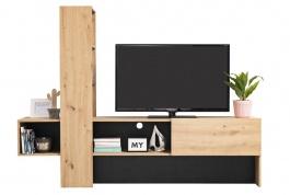 Moderní televizní stolek Timothea - dub artisan/černá
