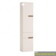 Skříňka, L provedení, bílá, extra vysoký lesk, LYNATET TYP 155