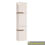 Skříňka, P provedení, bílá, extra vysoký lesk, LYNATET TYP 155