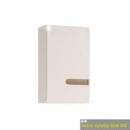 Skříňka horní, L provedení, bílá, extra vysoký lesk, LYNATET TYP 157 L