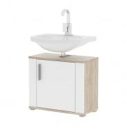 Skříňka pod umyvadlo, dub sonoma/bílá pololesk, Lessy LI 02