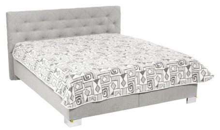 Čalouněná postel JOLANDA deLuxe  s denní dekou