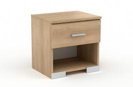 Noční stolek Space s šuplíkem – dub brooklyn