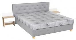 Čalouněná postel HERMÍNA 160,180x200cm s úložným prostorem