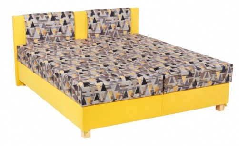 Čalouněná postel KLAUDIE 160,180x200 s úložným prostorem