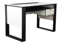 Dětský psací stůl Hero - bílá/černá