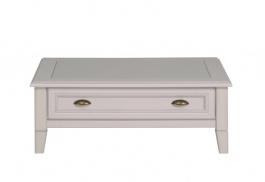 Rustikální konferenční stolek Lora - bílá