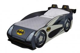 Dětská postel auto Hero 80x160cm - bílá/černá/žlutá