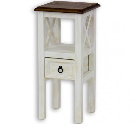 Dřevěná stolička s šuplíkem MES 10