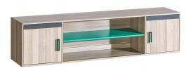 Skříňka k multifunkční posteli Groen - jasan/antracit/zelená