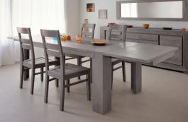 Přídavná deska k jídelnímu stolu Titan - dub šedý