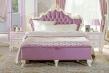 Manželská postel s roštem Comtesa 160x200cm - alabastr/fialová