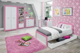 Dětský pokojl Twin  -  bílá/růžová