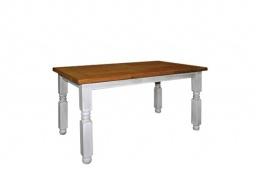 Jídelní selský rustikální stůl z masivního dřeva 90x160cm MES 01 - výběr moření