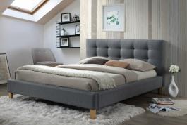 Čalouněná postel Texas 140x200cm - šedá