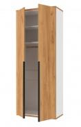 Dvoudveřová šatní skříň Trendy - bílá/dub zlatý