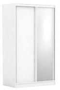 Dvoudveřová šatní skříň REA Atlanta 1 - bílá
