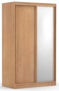 Dvoudveřová šatní skříň REA Atlanta 1 - buk