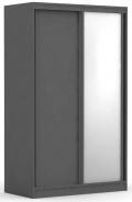 Dvoudveřová šatní skříň REA Atlanta 1 - graphite