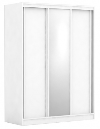 Třídveřová šatní skříň REA Atlanta 2 - bílá
