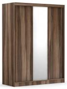Třídveřová šatní skříň REA Atlanta 2 - ořech rockpile